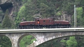 Video Gotthardbahn/Ferrovia del Gottardo: SBB Historic Krokodil Ce 6/8 II 14253 in Trouble! download MP3, 3GP, MP4, WEBM, AVI, FLV Juli 2018