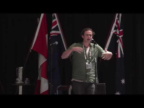 Slam poet Philip Wilcox performs at IIMHL Exchange 2017