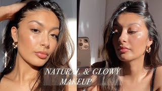 NATURAL AND GLOWY MAKEUP || drugstore products