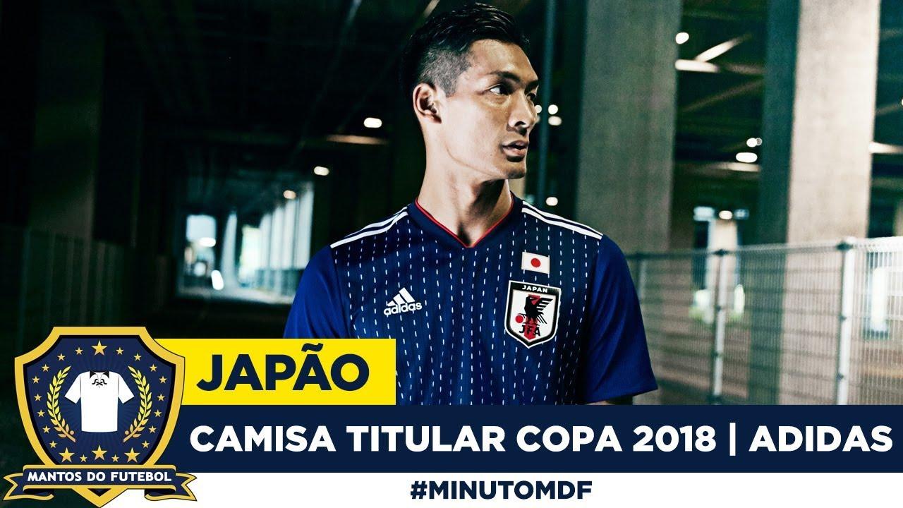 9da66c02e1 Camisa titular do Japão Copa do Mundo 2018 Adidas - YouTube