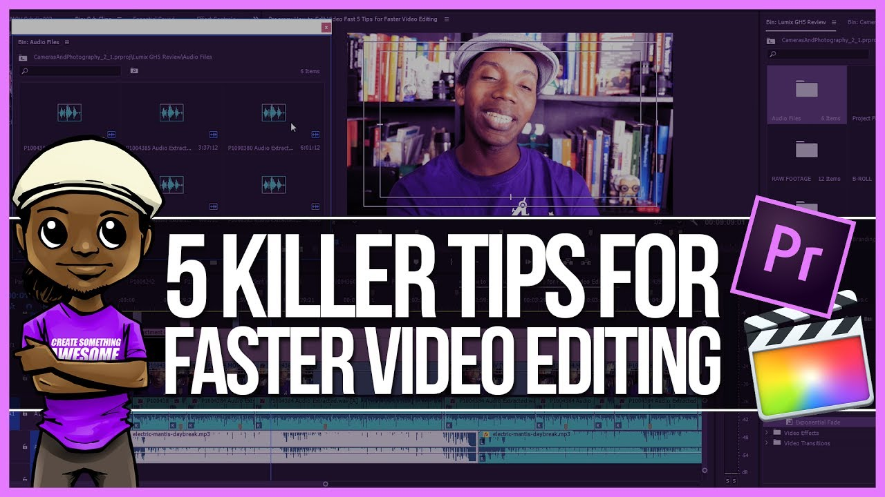 How to edit videos fast 5 tips for faster video editing youtube how to edit videos fast 5 tips for faster video editing ccuart Choice Image