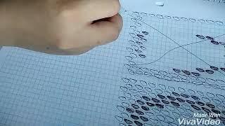 """Буква """"П"""". Схема для кирпичного плетения."""