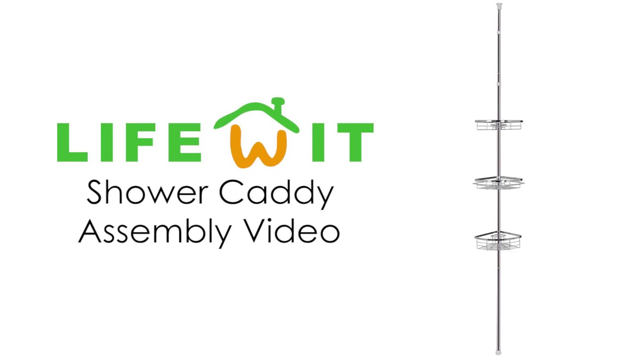 How to install Lifewit Tension Shower Caddy - YouTube