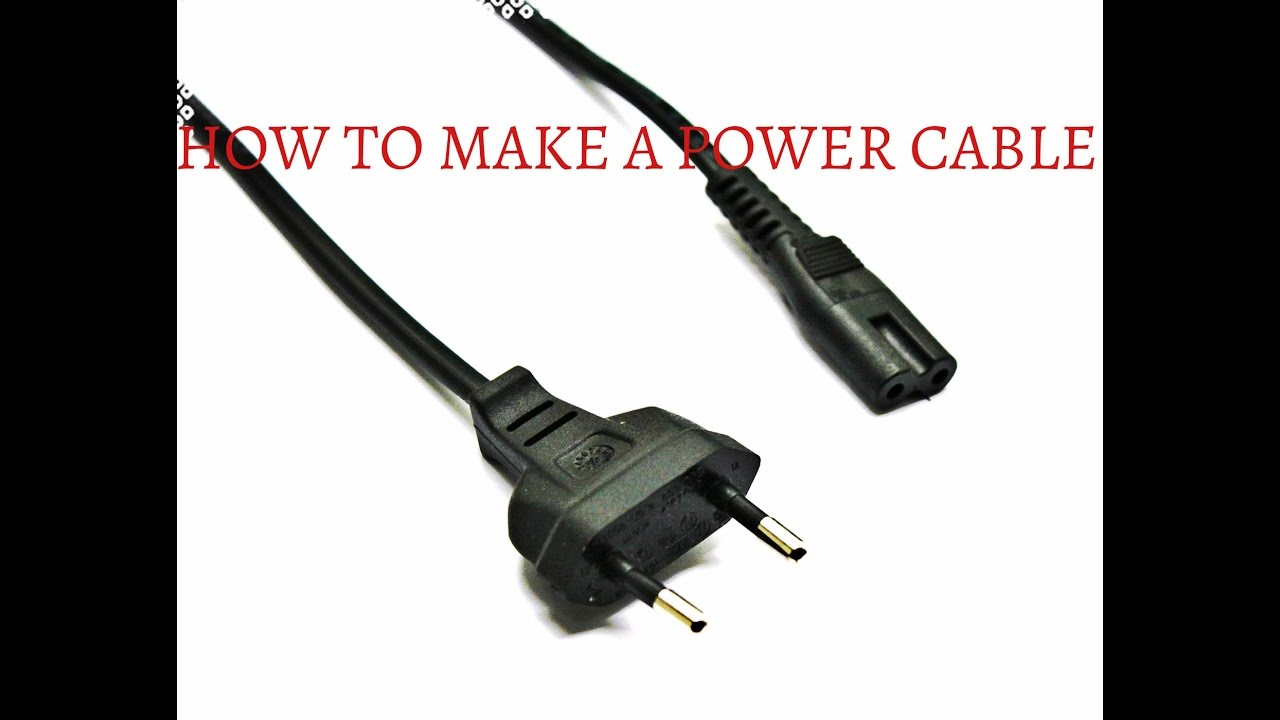 Elegant HOW TO MAKE A POWER CABLE CORD FROM PEN | 2 PIN | DIY HOME MADE POWER CABLE