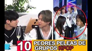 10 PEORES PELEAS DE GRUPOS KPOP !!