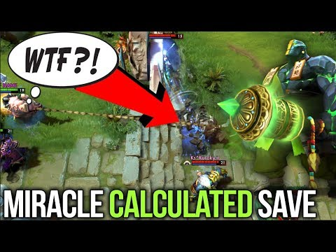 Miracle- EPIC Calculated Boulder Smash Save VS SingSing ft. !Attacker - Dota 2