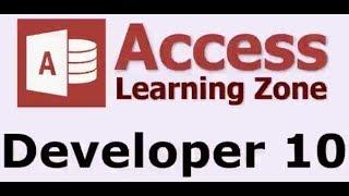 Microsoft Access Developer Level 10 - Introduction