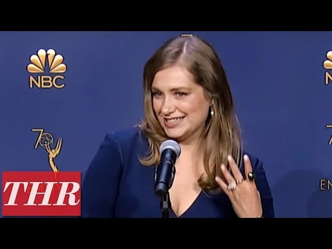 Merritt Wever: 2018 Emmy Awards Winner Backstage Interview ...