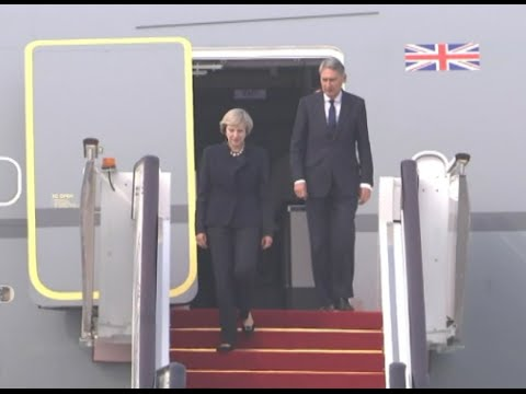 British Prime Minister Theresa May Arrives in Hangzhou for G20 Summit