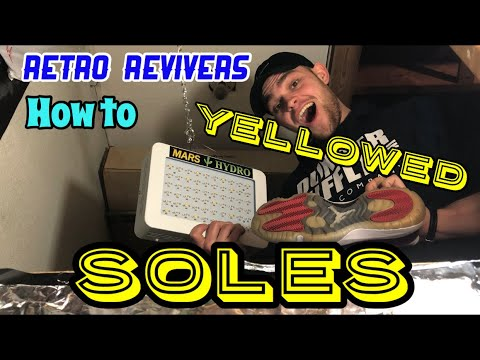 OUTSOLE REVIVAL (How to Un-Yellow Soles!!)