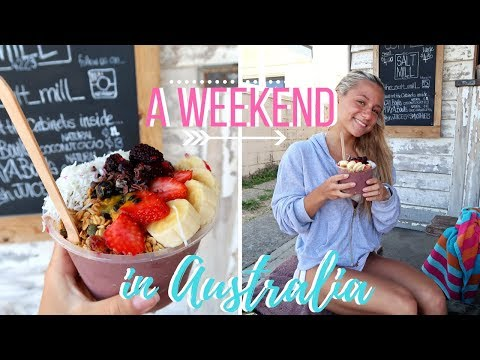 ✈️A Weekend in my life in AUSTRALIA🌊🏝   Surfing, Acai Bowls, Gym-Workout