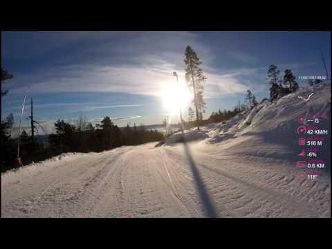 Kongsberg Skiresort [NORWAY] | Turisten | GOPRO HERO + | with GPS Overlay