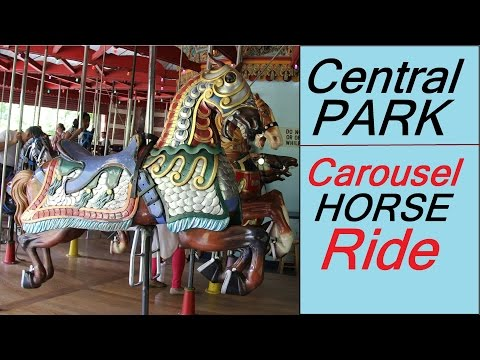 Carousel Merry Go Round Horse Amusement Rides Songs Videos Central Park New York City for Kids Boys