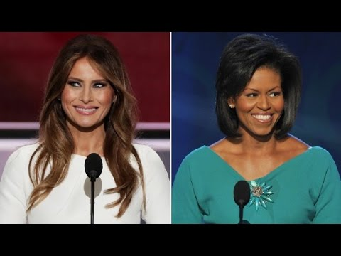 Thumbnail: Melania Trump and Michelle Obama side-by-side comparison
