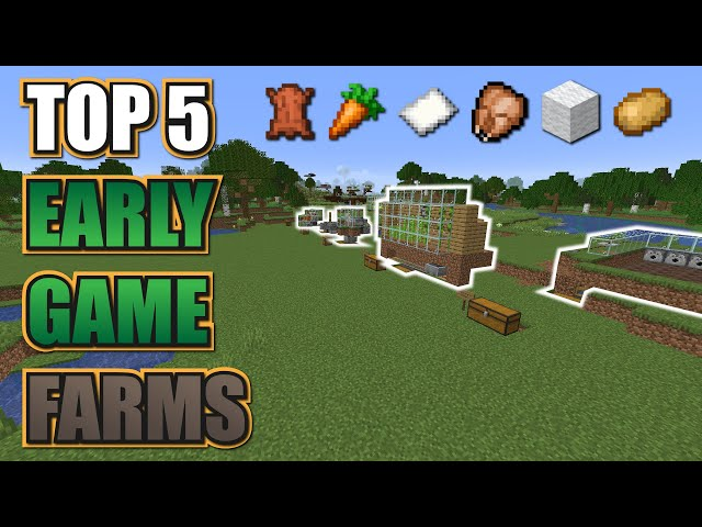 Minecraft 💯 5 EASY Early Game Farms Every World Should Have!