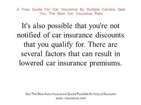 Save Money With A Free Quote For Car Insurance