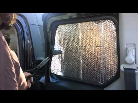 Making Sun Privacy Shades for our Honda Element May 2016 Timelapse