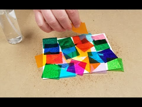 Tissue Paper Painting | Bleeding Color Art Activity