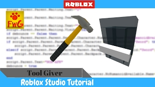 How To Make a Tool Giver In Roblox Studio 2017!