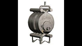 видео Булерьян Тип 01 - твердотопливная печь отопления