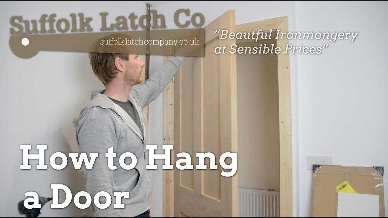 How to Hang a Door The Correct Way & How to Hang a Door The Correct Way - YouTube