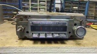 1965 Pontiac Grand Prix Bonneville Catalina AM Push Button Radio Delco 7293512