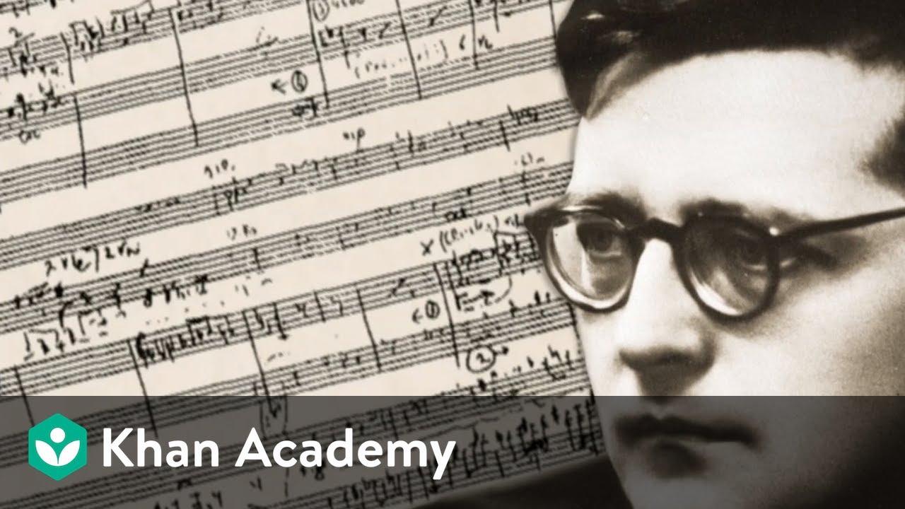 Dmitri Shostakovich: Symphony No. 5. Analysis by Gerard Schwarz (part 1)  | Music | Khan Academy