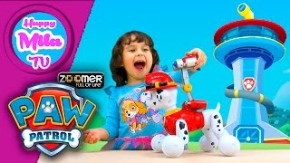 Paw Patrol Zoomer Marshall Interactive Dog by Spin Master smart toy funny review | HappyMilaTV #205