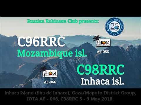 C96RRC C98RRC Mozambique Island Inhaca Island. From dxnews.com