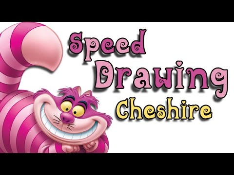 Dessin Speed Drawing Cheshire Le Chat D Alice Youtube