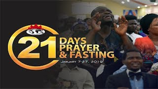 DAY 16: PRAYER AND FASTING FACILITATES FULFILLMENT OF PROPHECY - JANUARY 22, 2019