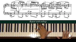 Bach / Siloti Air on a G String Piano Tutorial