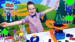 МАШИНКИ HOT WHEELS - МУТАЦИЯ Веселое видео для детей Nick Turbo Открываем яйца с сюрпризами
