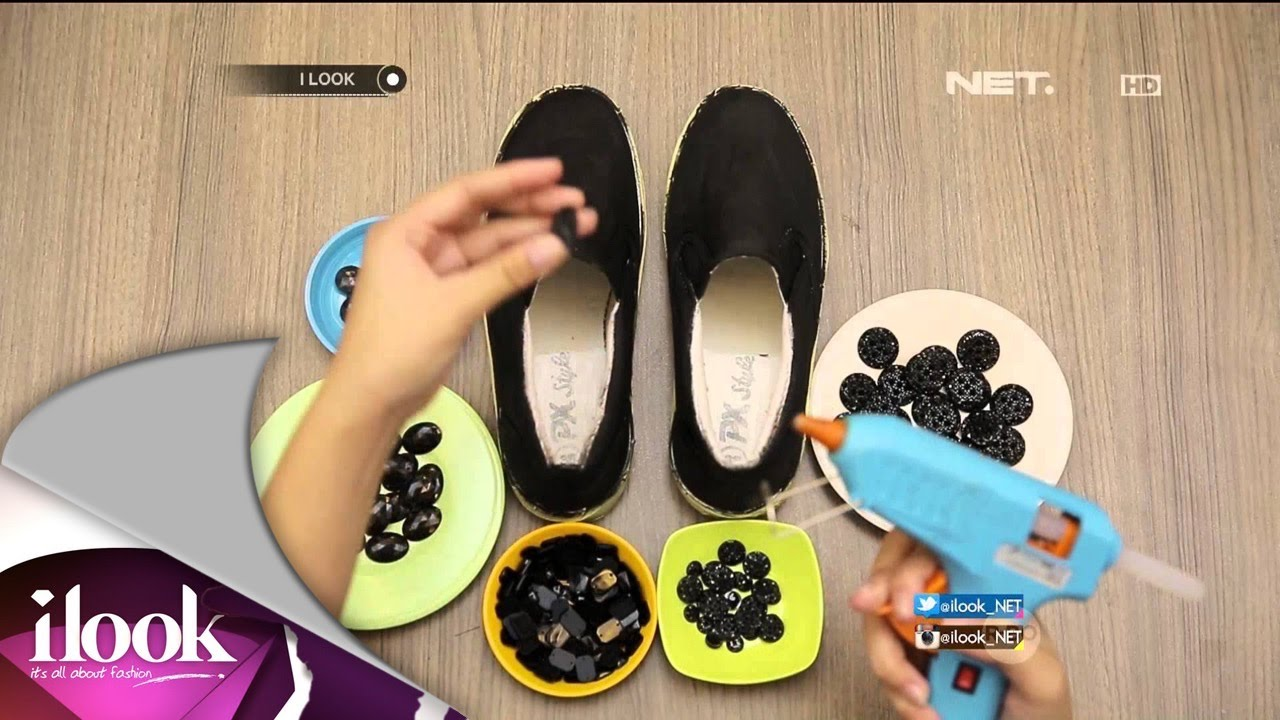 36b0be4dce43 DIY Black Stone Shoes - iLook - YouTube