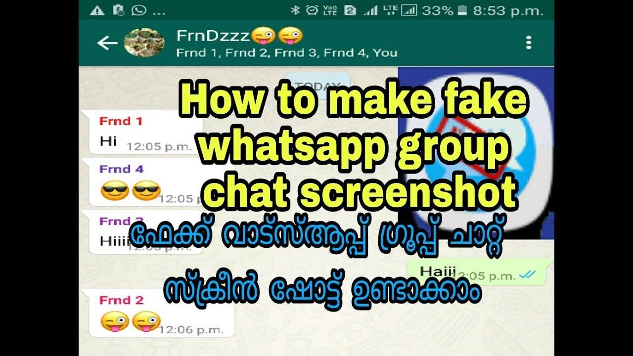Whatsapp gruppen chat faken  How to fake WhatsApp Chat