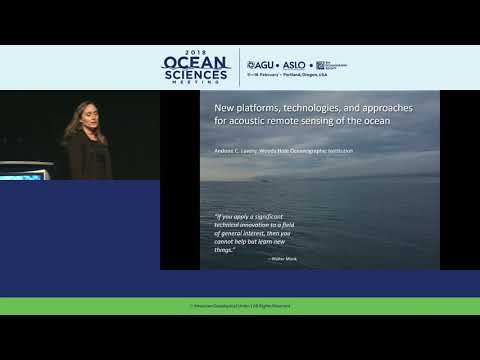 2018 Ocean Sciences Meeting Society Award Lectures