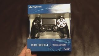 Sony DUALSHOCK 4 Wireless Controller for Playstation 4 Unboxing & Review