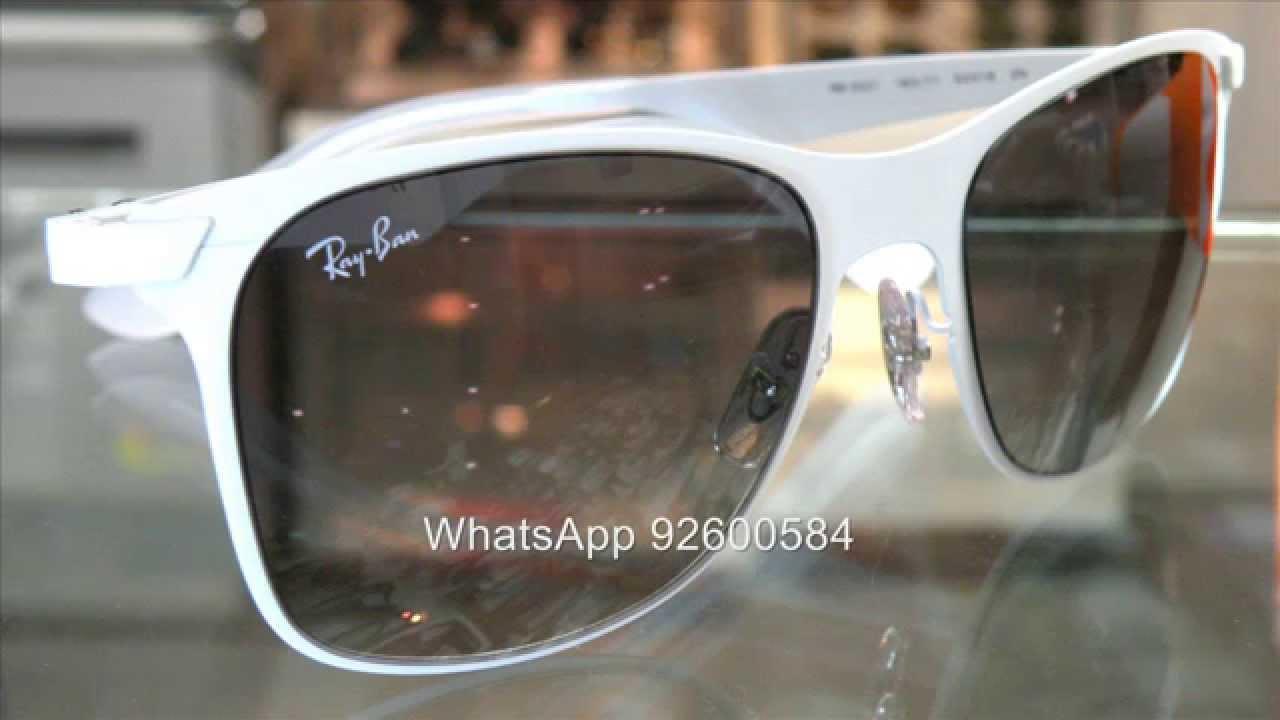 d9614face86 Ray Ban WAYFARER FLAT METAL RB3521 太陽眼鏡- YouTube