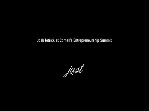 Josh Tetrick at Cornell University's Entrepreneurship Summit