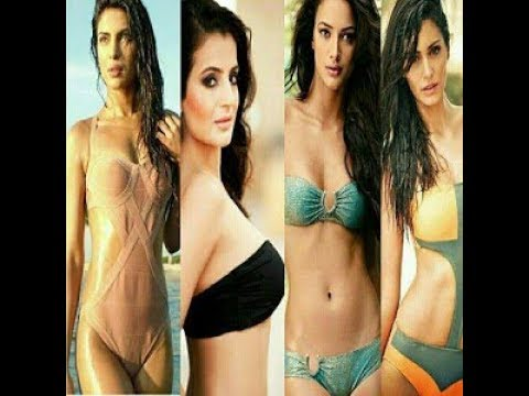 All Bollywood hot babes in bikini shows cleavage scene thumbnail