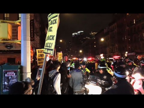 Raw: Sacramento Police Shooting Protested In NYC