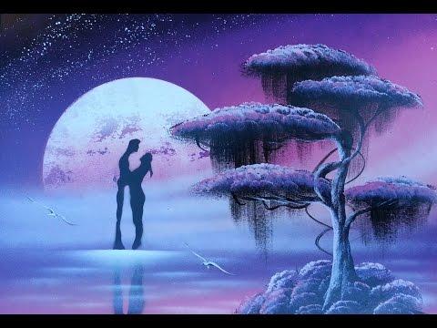 Amazing spray paint art - man & woman romantic painting - made by street artist