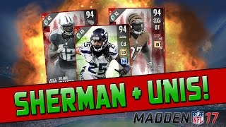 94 Richard Sherman & New MUT Gear Sets! | Madden 17 Ultimate Team - Pro Pack Opening