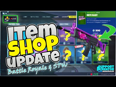 💥menamescho's-live-🔵-brite-blast-wrap---item-shop-update-🤪-fortnite-battle-royale---tue-7th-jan-2020