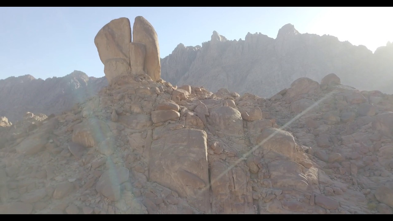 EXCLUSIVE Split Rock of Horeb Footage - Near Mount Sinai in Saudi Arabia