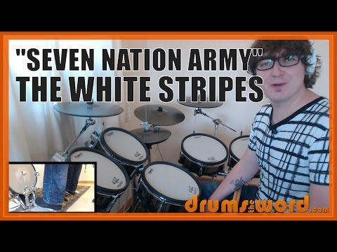 ★ Seven Nation Army The White Stripes ★ Drum Lesson PREVIEW  How to Play Song Meg White