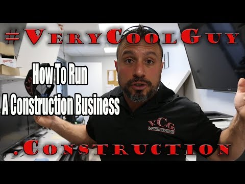 How To Run A Construction Business