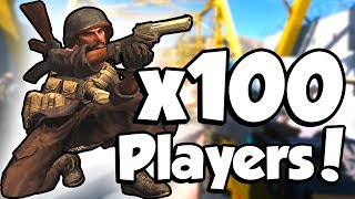 100 PLAYER MODE!? (Modern Warfare Beta)