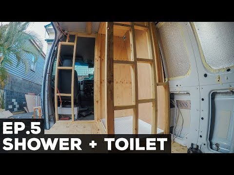 Ep.5 Sprinter Van Conversion | Shower + Toilet