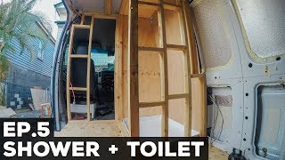 S1E5 Sprinter Van Conversion | Shower + Toilet